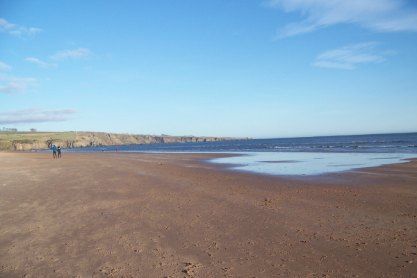 St Cyrus beach in winter